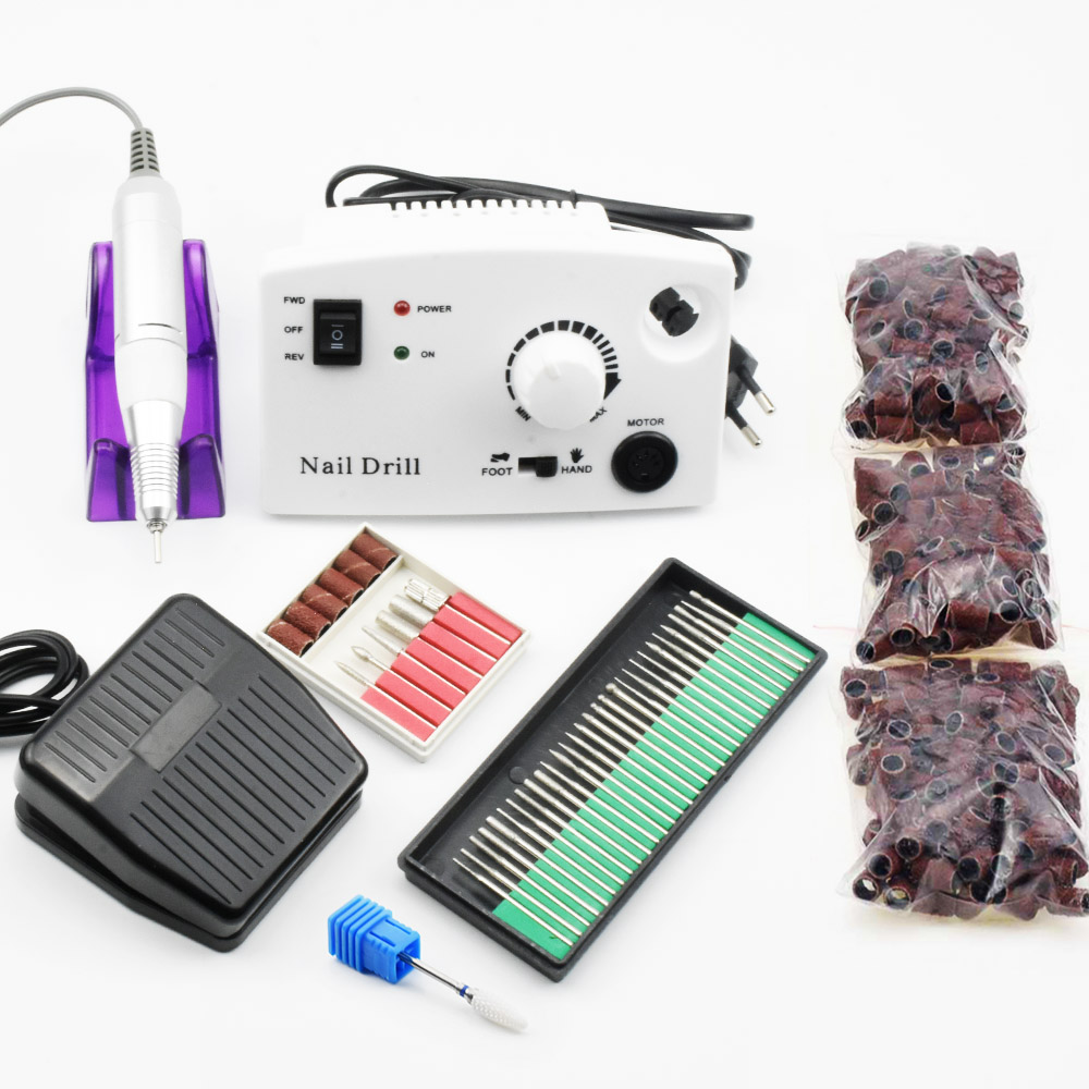 35000 tr/min perceuse à ongles électrique manucure Machine pédicure Kits appareil pour manucure ongles Accessoires outils lime à ongles forets