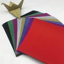 8 шт. квадратная блестящая бумага Оригами складная детская ручная резка «сделай сам» ремесло многоцветные детские игрушки