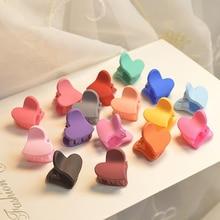 Bonito 20 unidades/pacote moda bebê meninas mini coração coelho flores clipes de cabelo doce crianças hairpins para crianças acessórios de cabelo