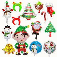 Foil-Balloon Happy Christmas Carnival Party New-Year-Decoration Snowman Boots Tree Auspicious