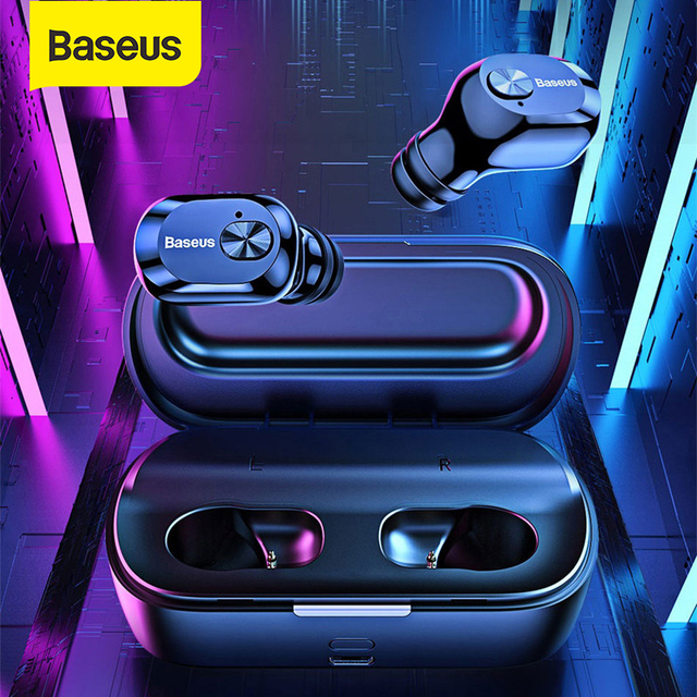 Baseus سماعات بلوتوث 5.0 لاسلكية بلوتوث سماعات آيفون سامسونج شاومي يدوي الرياضة سماعات ستيريو سماعات