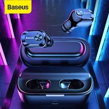 Baseus Bluetooth 5.0 אוזניות אלחוטי Bluetooth אוזניות עבור iPhone סמסונג Xiaomi דיבורית ספורט אוזניות סטריאו אוזניות