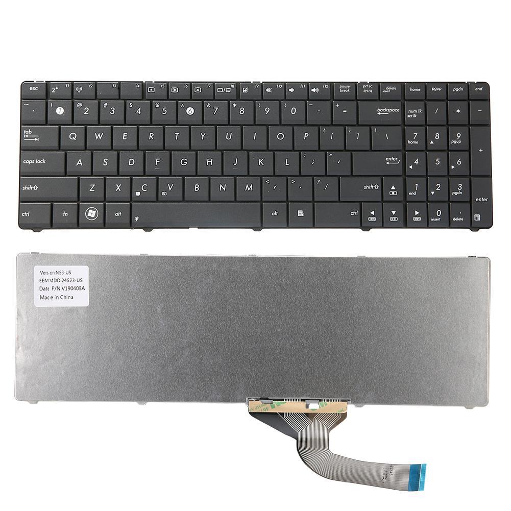 Durable Replacement Keyboard Keypad for ASUS K53U K53Z K70 K53 N53 N73S N73T N61 Laptop Computer Peripherals
