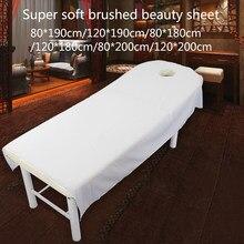 Microfibra confortável rugas resistente poliéster salão de beleza massagem spa cama folha sofá casa macio artigo capa de mesa simples
