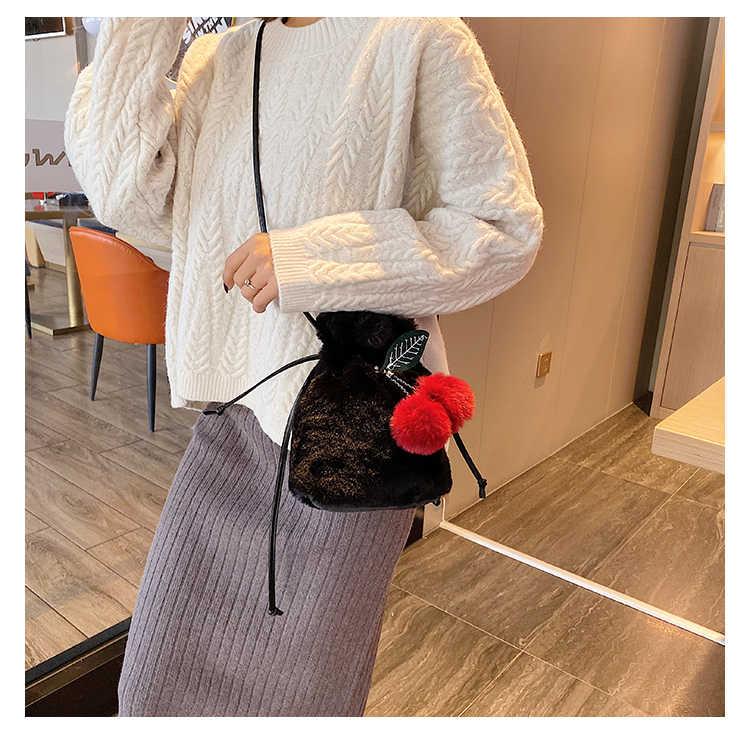 Herbst und winter neue welle von ausländischen niedliche kleine tasche haarigen weiblichen beutel persönlichkeit plüsch schulter Messenger tasche