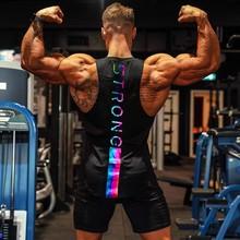 2021 lato nowych mężczyzna Trend w modzie fajne podkoszulek Fitness odkryty kamizelka sportowa mięśni siłownia luźna bawełniana czarna koszulka bez rękawów tanie tanio DFKDZG Na co dzień Na wiosnę i lato COTTON CN (pochodzenie) CASUAL Sukno litera YT-BX3 Z okrągłym kołnierzykiem tops
