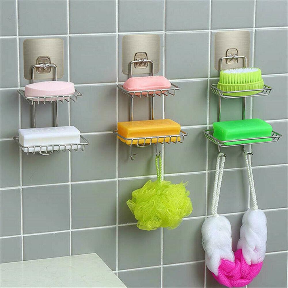 Sponge Rack Heart Dish Wash Cloth Suction Cup Holder Sink Organizer Free Ship