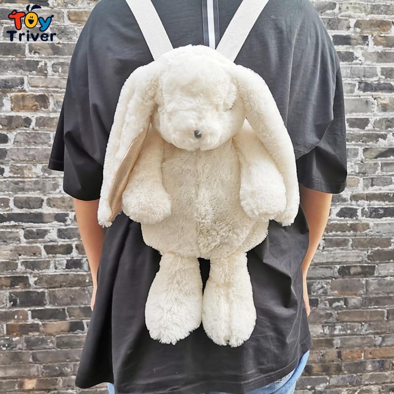 Hot New Kawaii Japanese White Rabbit Backpack School Shoulder Bag Plush Toy Kids Children Girl Girlfriend Student Birthday Gift