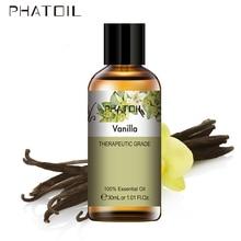цена на 30ml Vanilla Essential Oil Diffuser Pure Natural Essential Oils Lavender Jasmine Eucalyptus Sandalwood Ylang Ylang Tea Tree Oil