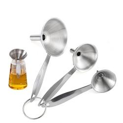 4 zestawy lejki ze stali nierdzewnej z uchwytem do przenoszenia płynnych suchych składników i lejek z filtrem w proszku na