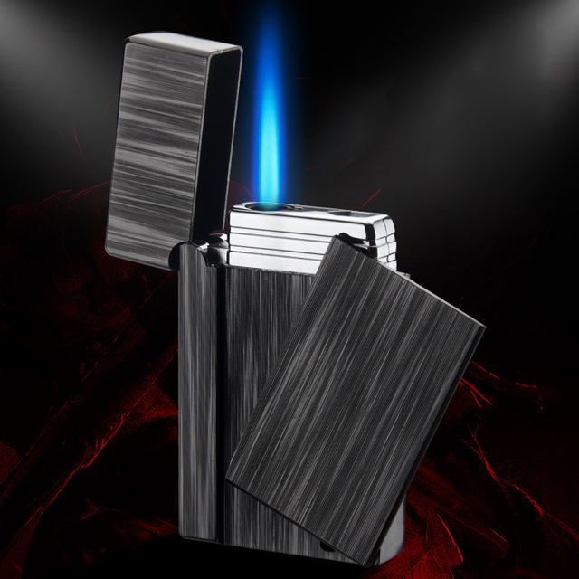 Gadgets For Men Electronic Turbo Lighter Torch Lighters Smoking Accessories Gas Lighter Metal Cigar Cigarettes Lighter