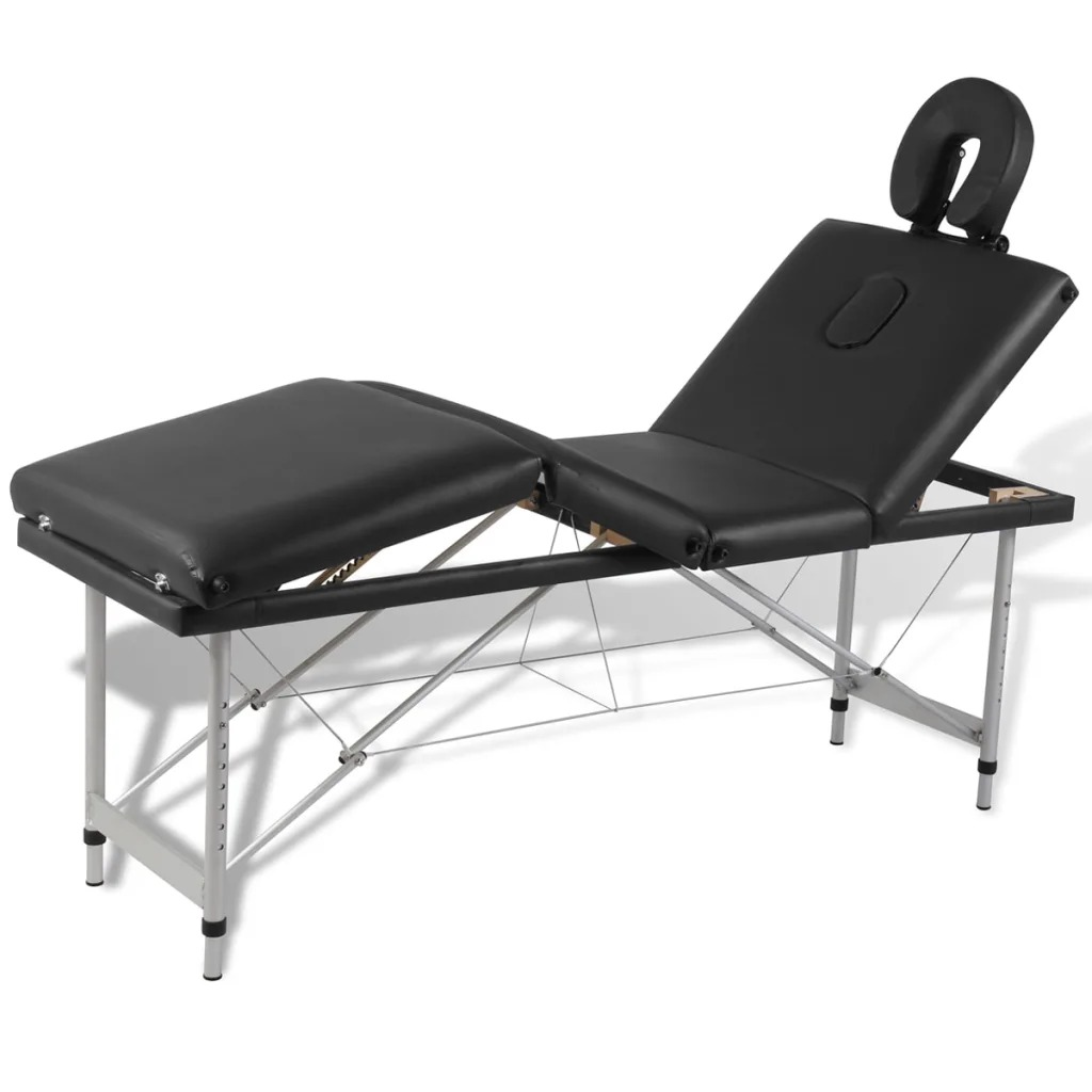 VidaXL Folding Massage Table 4 Zones Aluminum Frame 110099
