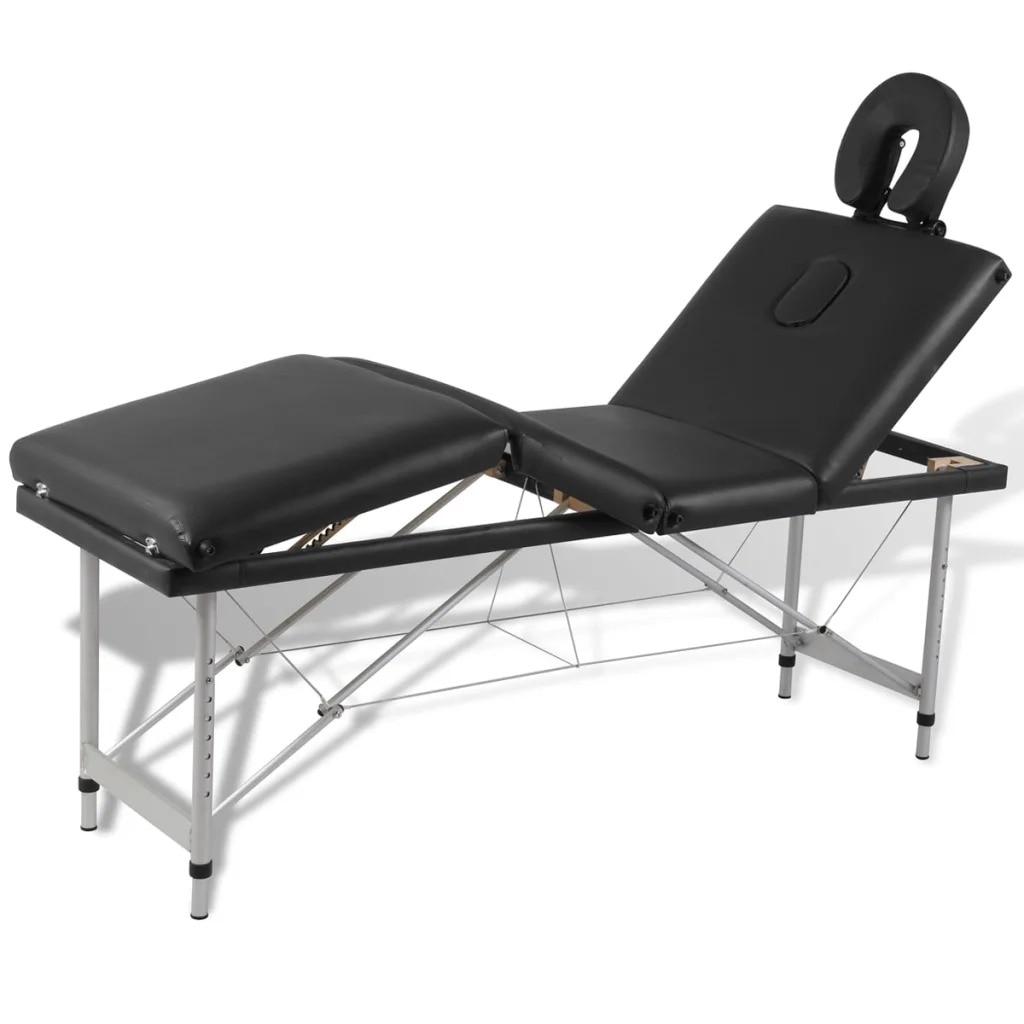 VidaXL Folding Massage Table 4 Zones Aluminum Frame 110099