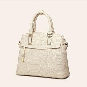 Image 2 - ワニのパターン革ハンドバッグの女性のバッグ新シンプルなための女性高品質の女性のメッセンジャーショルダーバッグ HC258