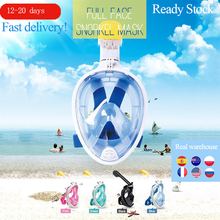 6 Colors Scuba Diving Mask Full Face Snorkeling Mask Underwater Anti Fog Snorkeling Diving Mask For Swimming Spearfishing Dive(China)