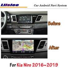 Liislee Android 8,1 для Kia Niro стерео автомобильный экран Carplay Wifi BT GPS навигационная карта навигация Мультимедиа