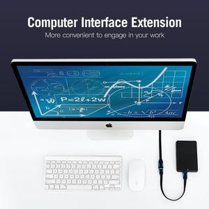 Image 3 - Drag Usb 3.0 Verlengkabel Man vrouw Extender Kabel Fast Speed Usb 3.0 Kabel Verlengd Voor Laptop Pc Usb 2.0 Extension