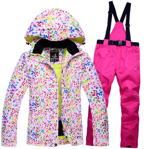 Image 3 - New Thick Warm Womens Skiing and Snowboarding Jacket Pants Set Waterproof Windproof Ski Suit Female Snow Costumes Outdoor Wear