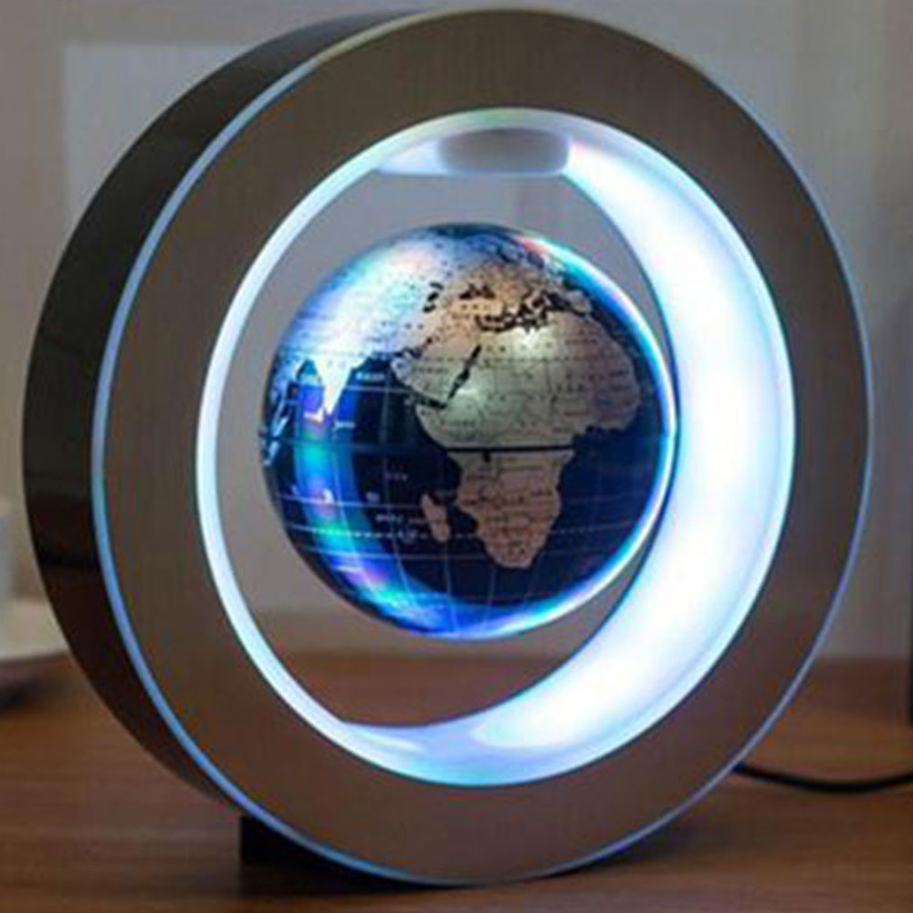 Novelty LED Floating Globe Magnetic Levitation Light Magic Lamp AU Plug