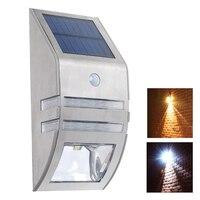 태양 LED PIR 모션 센서 빛 야외 LED 태양 빛 스테인리스 태양 램프 정원 마당 통로 방수