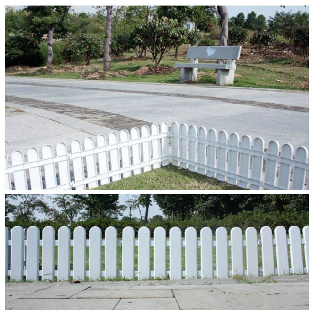 Miniature Wood Fencing White PVC Plastic Fence European Style For DIY Fairy Garden Driveway Gates Christmas Tree Decor Ornament