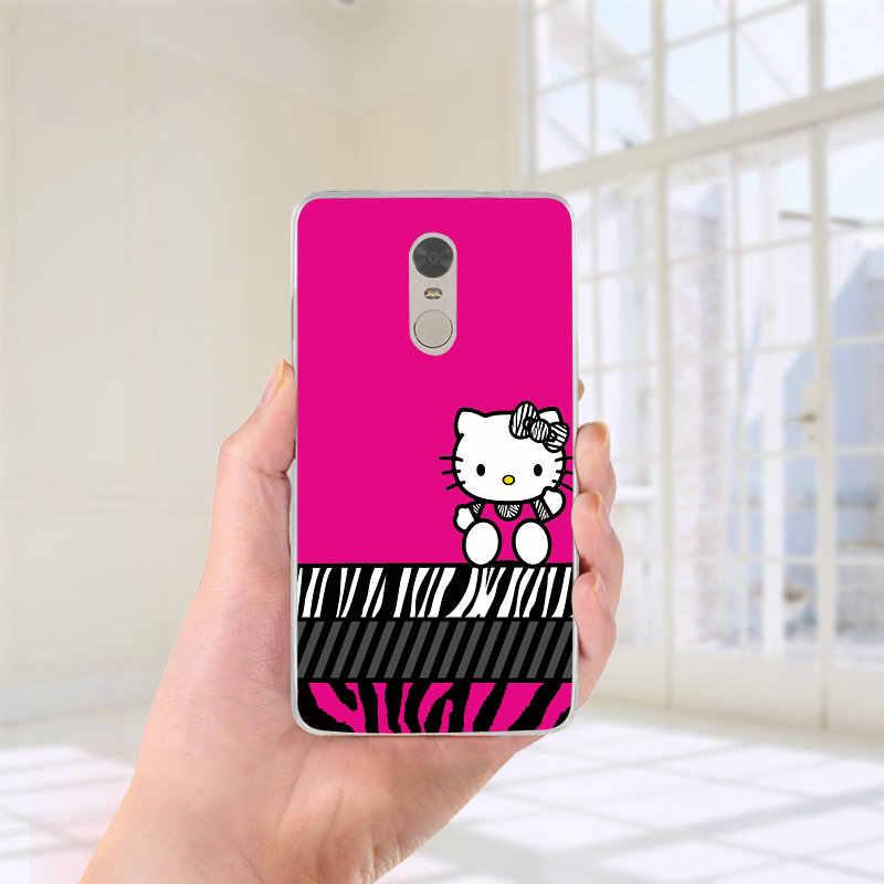 Bonjour chat Kitty chat Style doux TPU téléphone Coque pour xiaomi rouge mi mi Note 3S 4X 4A 6 5 5S 5A 8 A1 Pro Plus Max 2 3 Coque Fundas