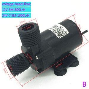 Image 3 - Toptan 12V fırçasız DC su pompası 800L/H 1000L/H sessiz 24V elektrikli SU ISITICI sirkülasyon takviye pompası