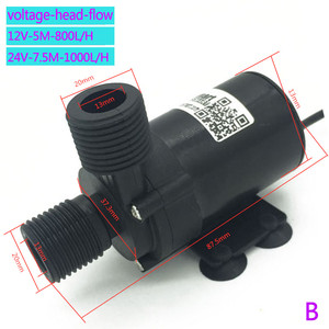 Image 3 - Wholesale 12V Brushless DC Water Pump 800L/H 1000L/H Silent 24V Electric Water Heater Circulating Booster Pump