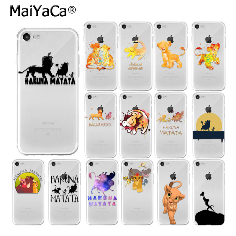<font><b>Lion</b></font> <font><b>King</b></font> Pumba <font><b>Hakuna</b></font> <font><b>Matata</b></font> DIY Protector Case for Apple iPhone 11 pro max 8 7 6 6S Plus X XS MAX 5 5S SE XR 11 PRO max cover image