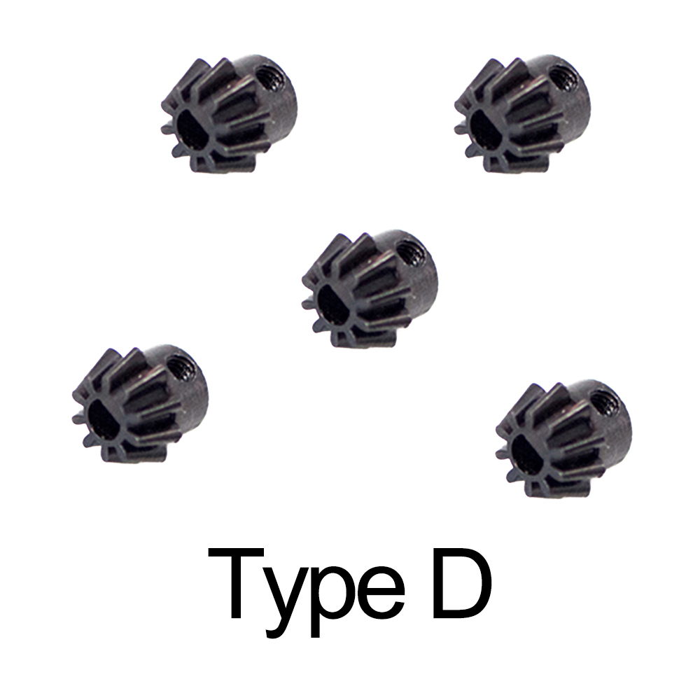 5Pcs New Version High Carbon Steel Motor Pinion Gear For Airsoft Air Guns AEG M4 556 Paintball Accessories - Motors (O / D Type)