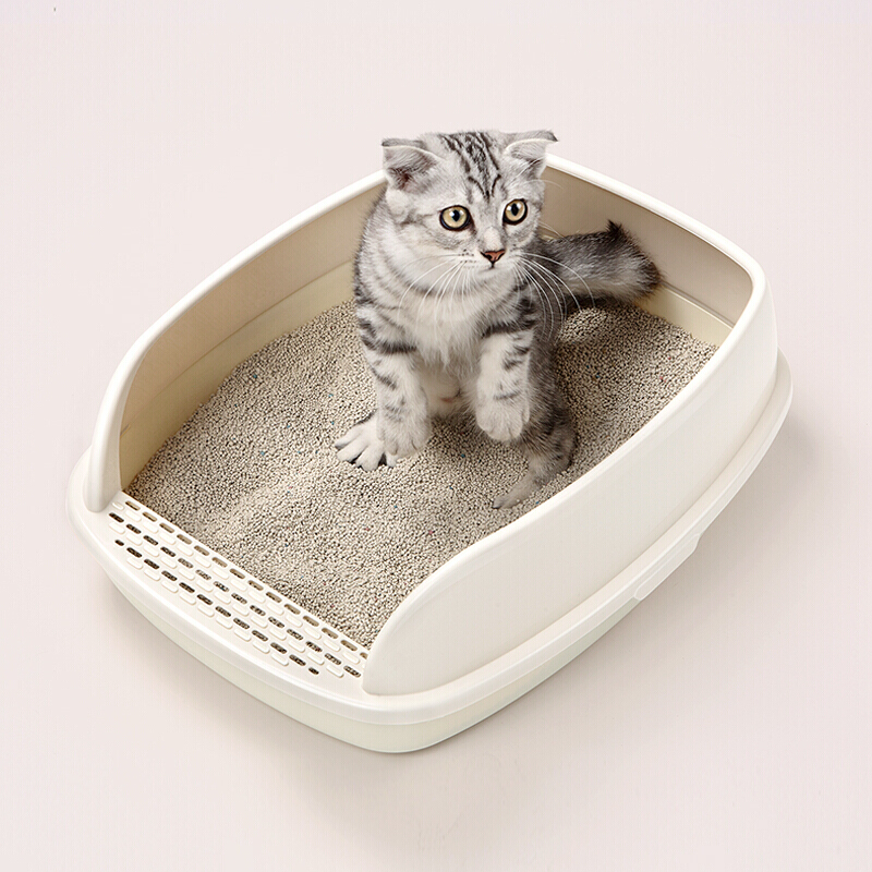 Deodorizing And Extra Large Anti-splashing Sand Basin Cat Toilet For Kittens And Cats