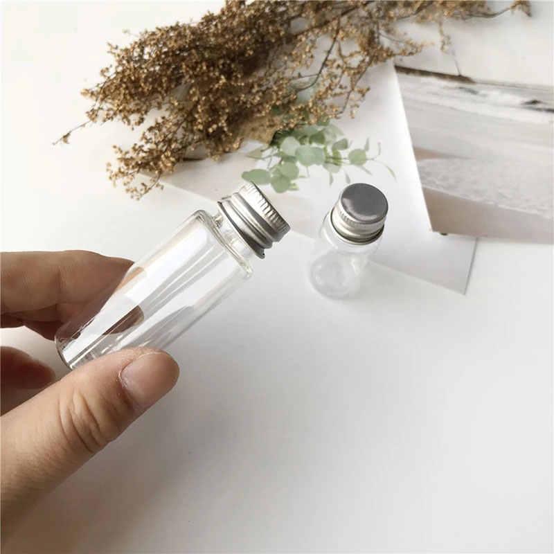 Küçük Şampuan Makyaj Doldurulabilir Şişe Seyahat Için 10/20ML Boş Kavanoz Kozmetik Kaplar Cam örnek şişesi Ile alüminyum kapak