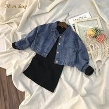Jacket Outwear Spring Toddle Baby-Girls Kids Coat Autumn Dress Infant Chaqueta Jean Tshirt