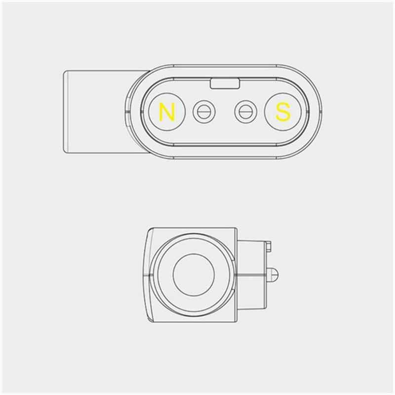 USB magnetica di Ricarica 2 Spilli Distanze di 7.62 millimetri Cavo di Alimentazione Per una Crescita Intelligente Orologio