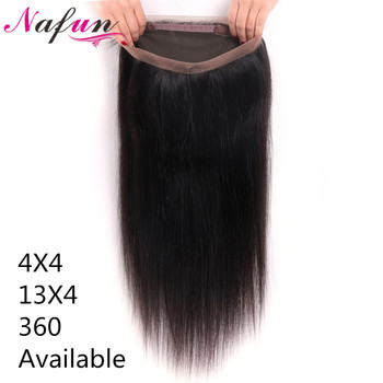 360 Lace Frontal Closure Brazilian Hair Straight Human Hair Closure 13x4 Lace Front Closure Remy Hair Pre Plucked 360 Closure
