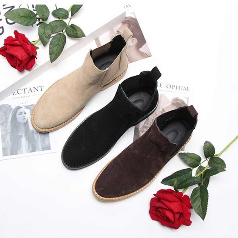 Vertvie Herren Stiefel Chelsea Stiefel Ankle Boot Plus Samt High-top Boot Outdoor Wanderschuhe Tragen Beständig Casual Schuhe