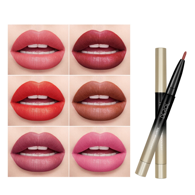 DEROL Lip Liner Long-lasting Waterproof Non-stick Cup Easy To Color For Daily/Travel/Party/Work *