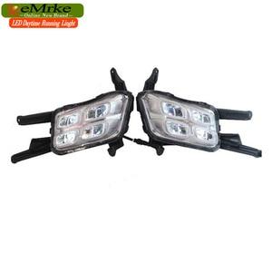 Image 5 - EEMRKE Car LED DRL For Kia Optima K5 TF 2014 2015 Xenon White Day Light Fog Cover Daytime Running Lights Fog Lamp Assembly