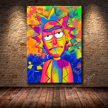 Populartv série rick alta definição impressão personagem morty cartaz pintura da lona sala de estar quarto decoração pintura