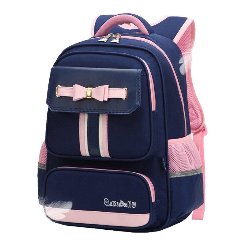 2020 New Bow School Bags For Girls Boys Pattern Book Backpacks Children Orthopedic Backpack Primary Mochila Infantil Grade 1-3-4