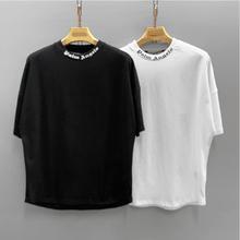 T-Shirt Short-Sleeve Angels-Letter Logo Couple-Style Boyfriend Gift Palm Cotton Unisex