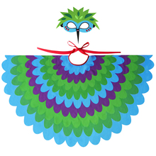 Special Child Bird Costume Wing Mask Girls Dance Cosplay Shawl Toys Party Gifts Fairy Kids Costumes