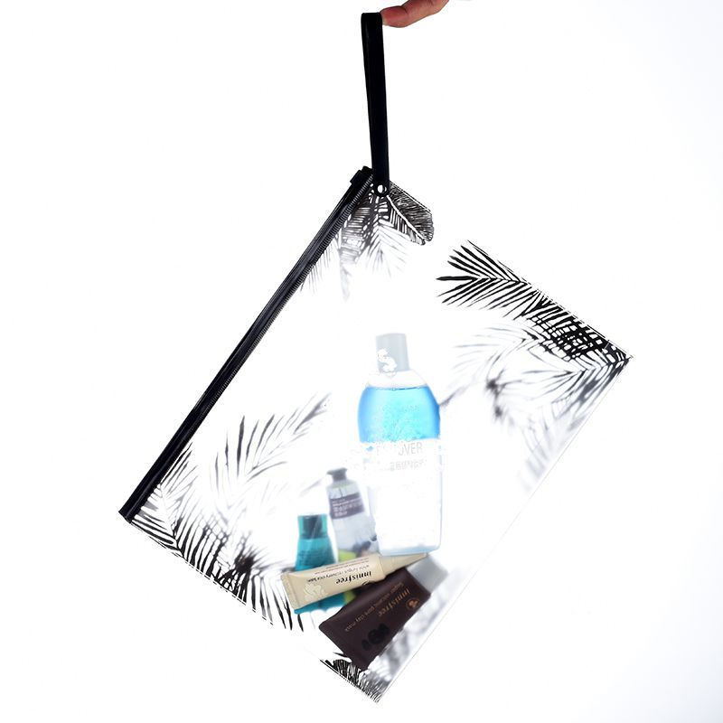 Travel Women Clear Transparent Cosmetic Bag Small Large PVC Necessary Makeup Bag Case Bath Beach Wash Organizer Set Pouch image