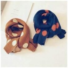 Детский вязаный шарф для мальчиков и девочек Осень зима