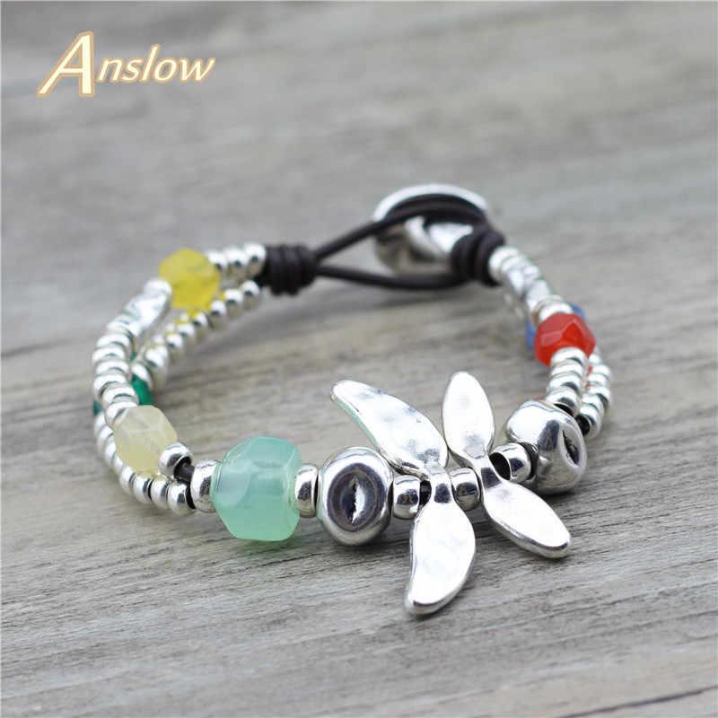 Boho Bracelet Jewelry Adjustable For Women Dragonfly Alloy Multilayer Bracelet