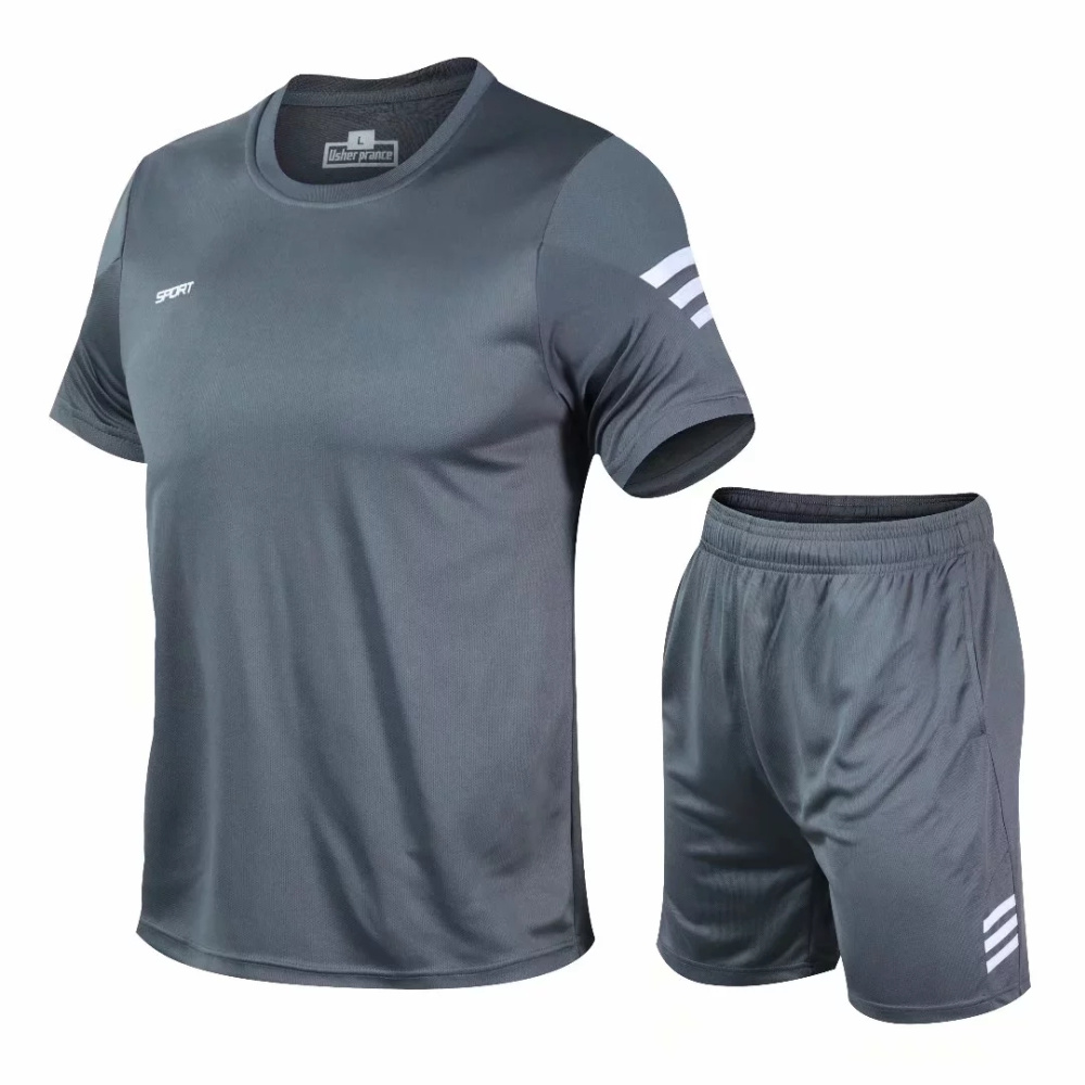 2 Pcs/Set Men's Tracksuit Gym Fitness badminton Sports Suit Clothes Running Jogging Sport Wear Exercise Workout set sportswear 6