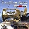 OLOEY Multiplier Trolling Reel Full Metal 2 Speed Deep Sea Fishing Reel Yellowtail Jigging Conventional Big Game Reel 50-200lb