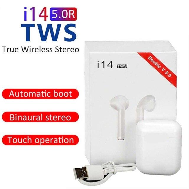 2020 nouveau Original i14 TWS sans fil écouteurs Bluetooth casque Invisible écouteurs pour téléphone intelligent PK i11 i12 i13 i7s i14 i10
