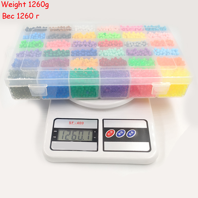 36 Color 24 Colour DIY Water Spray Magic Beads Manual 3D Beads 5mm Hama Beads Refill Wholesale Beads Toys