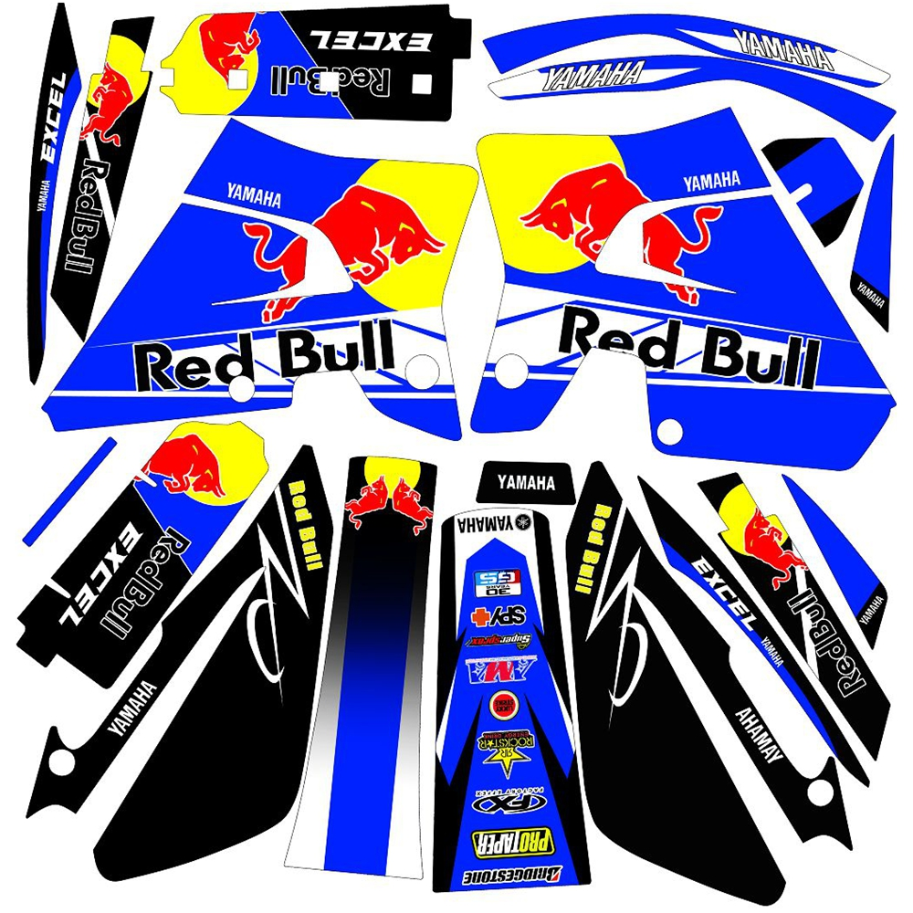 New Bull Full Graphics Decals Stickers Custom Number Name 3M Bright Stickers Waterproof For YAMAHA DT200WR